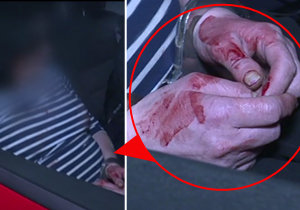 Vražedkyně měla při převozu na stanici ruce celé od krve.