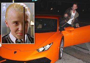Draco Malfoy má opravdu ostré fáro. Lepší než koště.