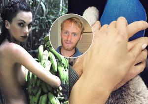 Čí je tajemný ruka na stehně modelky Bučkové? Že by patřila Jakubovi Vágnerovi?