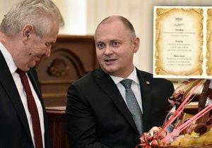Hejtman Jihomoravského kraje Michal Hašek pozval na oběd prezidenta Miloše Zemana.