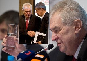 Andrej Babiš a Miloš Zeman se zúčastnili Setkání lídrů českého exportu 2016