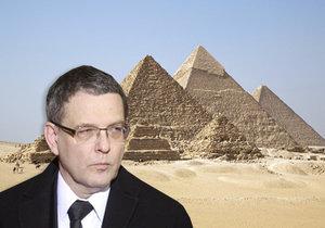 Zaorálek na cestě po Egyptě (ilustrace)