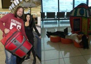 Jirka s Andreou odlétali do Thajska v pořádném shonu.