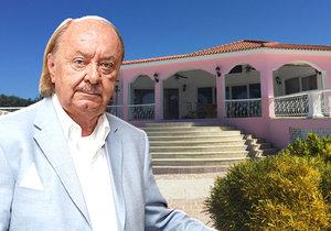 František Janeček prodává luxusní vilu v Karibiku, donutil ho Fantom opery