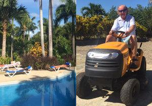 František Janeček tráví celou zimu ve svém domě v Karibiku!