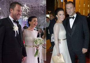 Gábina Partyšová vytáhla týden po svatbě své svatební šaty na Ples v Opeře! Partyšová na plese v Opeře