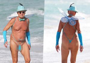 Tento stařík způsobil na pláži v Miami pozdvižení.