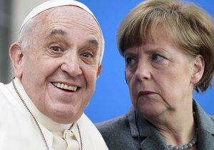 Papež naštval Merkelovou: Kvůli proslovu mu dokonce volala