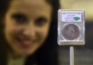 Nejdražší mince, která se kdy prodala v aukci. Majitele stála téměř 250 milionů dolarů.