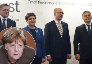 Hrozí střet mezi Merkelovou a představiteli V4? Podle Fica si Německo už stěžovalo.