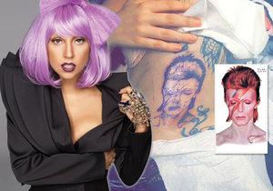 Lady Gaga má nové tetování! Na těle nosí Davida Bowieho.