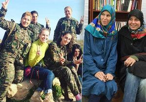 Lenka Klicperová vyrazila opět s kolegyní Markétou Kutilovou do Sýrie (vlevo). Co si myslí o výkupném za Hanku a Tonču?