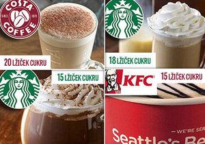 Kalorické bomby - nazdobené nápoje obsahují obrovské množství cukru.