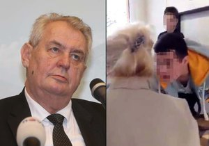 Prezident Zeman v Liberci promluvil i o šikaně na pražské střední škole.