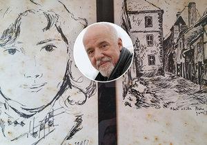 Spisovatel Paulo Coelho pátrá po malíři, který nakreslil tyto obrázky.
