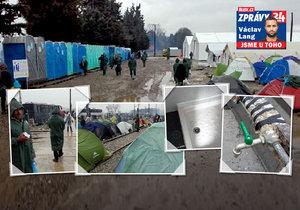 Uprchlický tábor Idomeni v detailním pohledu Blesk.cz