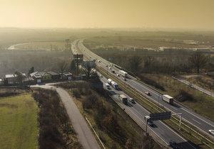 Letecký pohled na Pražský okruh