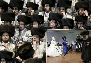 Ultraortodoxní židovská svatba v Izraeli