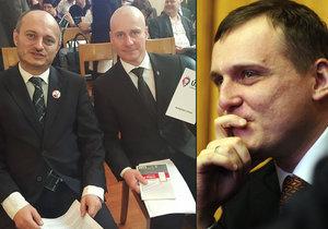 Exšéf dnes již zaniklého Bloku proti islámu s předsedou hnutí Úsvit Miroslavem Lidinským v době, kdy se ještě měli rádi. Teď Konvička prozradil, že za jejich spojením stál podnikatel Vít Bárta.