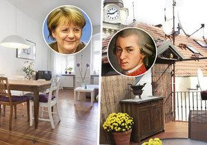 Chcete bydlet jako Mozart nebo Angela Merkelová? Máte jedinečnou příležitost!