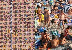 Plážový horor na Jadranu: Slunečník na slunečníku a narváno k prasknutí.