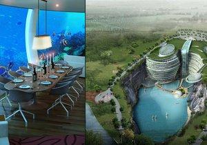 Unikátní podvodní hotel v Číně
