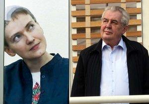 Savčenková vzkazuje Zemanovi: Nejsem zrádce a neponižuji svůj národ jako on