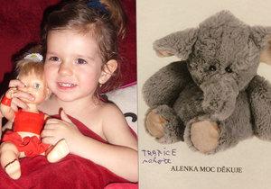 Nenašel jste někdo v supermarketu v Holešovicích plyšového slona? Pokud ano, vraťte ho Alence.
