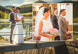 Markéta Adamová si vzala svého slovenského přítele Tomáše Pekara. Svatbu měli v kostele.