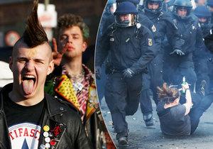 Berlín hlásí srážky demonstrantů s policisty