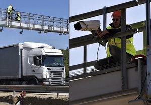 Silničáři v opravovaném úseku dálnice D1 namontovali kamery systému pro úsekové měření rychlosti.