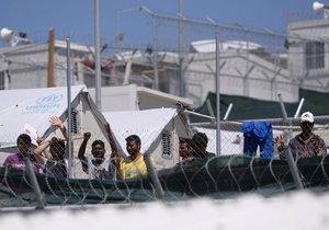 Uprchlický tábor Moria na řeckém ostrově Lesbos