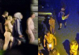 Nahé prostitutky i jejich zákazníci byli vyhnáni na mráz.