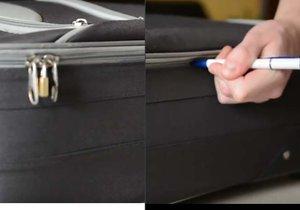 Zloději znají snadný způsob, jak vykrást zamčený kufr.