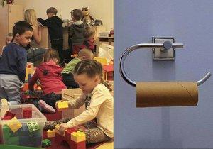 Rodiče dětem do některých pražských mateřských školek dávají i toaletní papír.