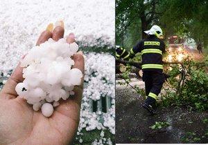 Bouřlivé počasí potrápilo Česko