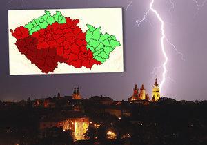 Bouřky jsou zpátky a chystají se ochromit Česko.