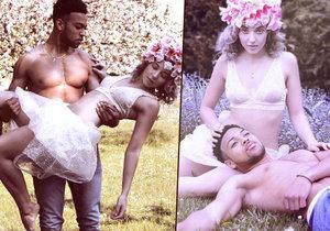 Anna Slováčková nafotila odvážné fotky se svalnatým a fešným černochem.