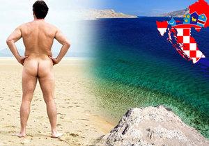 Chorvatsko je pro naháče zemí zaslíbenou. Nabízí mnoho nudistických pláží a kempů.