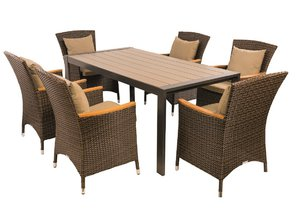 Chytrý stůl Variant (podnoží Leopard, deska Durabord Šedý dub), křesla Claudia