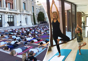 Tereza Maxová cvičila jógu uprostřed silnice v Monaku.