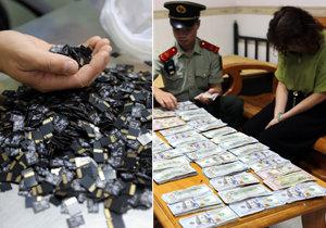 Žena pašovala v přepočtu 5,2 milionu korun a tři tisíce paměťových kartiček v intimních partiích.