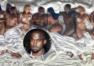 Videoklip Kanyeho Westa k písni Famous představuje známé osobnosti v rouše Evině.