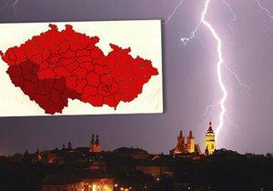 Další vlna bouřek: Nejsilnější budou jihu a západu Čech. Sledujte radar