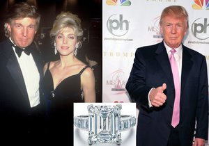 Trumpova bývalá manželka Marla se snubního prstenu po rozvodu ihned zbavila.