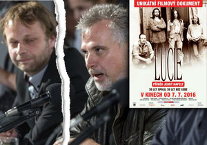 Producent a kameraman Jan Turek (vlevo) napadl režiséra dokumentu o kapele Lucie Davida Síse (vpravo).