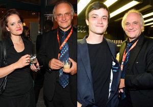 Michael Kocáb dorazil do Varů s oběma dětmi Natálií a Michaelem.