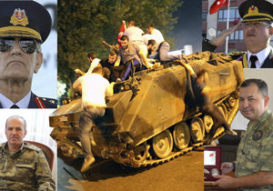 To jsou podle tureckým médií tváře puče!