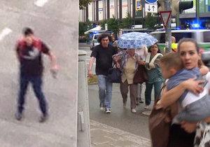 """Střelec se chvíli před útokem dohadoval s neznámým mužem: """"Šikanoval jsi mě 7 let"""", křičel..."""