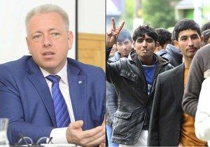 V souvislosti s migranty v Německu panují obavy, že by se odmítnutí mohli vydat do okolních států, uvedl ministr Chovanec.
